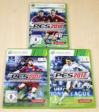3 XBOX 360 SPIELE SAMMLUNG PRO EVOLUTION SOCCER PES 2010 2011 2012 - FUSSBALL