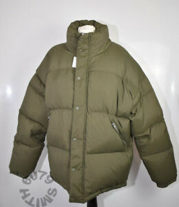 BNWT Zara Mens Khaki Green Down/Feather Puffa Jacket XXL Very Warm