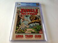 JUNGLE ACTION 1 CGC 9.6 WHITE PAGES LORNA THARN JANN MARVEL COMICS