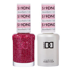 DND Daisy Duo Gel W/ matching nail polish lacquer - STRAWBERRY CANDY - 519