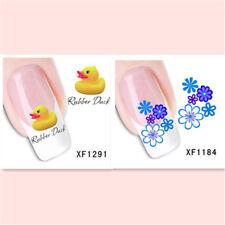 2Sheet/Lot Popular Delicate Water Transfer Diy Nail Sticker Xf1291+1184
