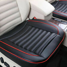 Universal Car Front Seat Cover Breathable PU Leather Pad Mat Chair Cushion Black