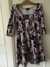 Size 10 Fit And Flare Floral Print Dress Pretty NEW With Tag Summer Was £25