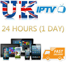 1 Day (24HR) IPTV UK With VOD Subscription For Openbox V8S Mag Firestick Android
