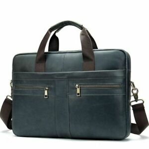 Men High Quality Leather Briefcase Messenger Bags Luxury Business Male Handbags