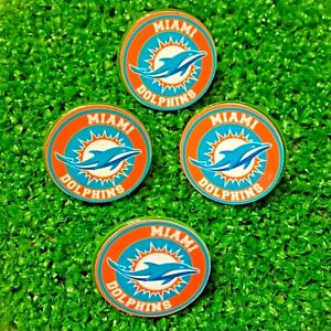25MM  MIAMI DOLPHINS  STUDDED PLASTIC GOLFBALL MARKERS   FREE U.K.P&P