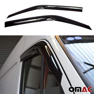 Window Visor Vent Sun Shade Rain Guard 2pcs Fits Dodge MB Sprinter 2007-2018