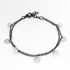 DUR Schmuck Armband SHARI Silber 925/- oxidiert, 17cm+3cm Verlängerung ( A1417)