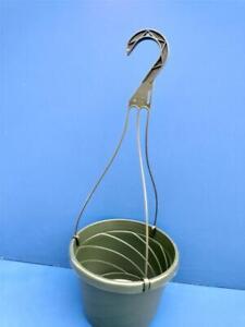 "Lot of 10 New 8""inch Euro Hanging Plastic Flower Nursery Pots Baskets"