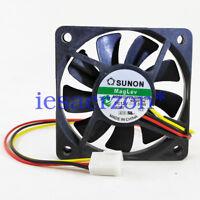 For Sunon MagLev MB60101V2-000U-G99 60x 10mm 12v Vapo Bearing Cooling Fan 3 pin