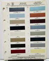 1966 Mercury Color Paint Chips Leaflet Ditzler Parklane Montclair Monterey Comet