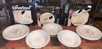 Vtg Corelle CORNERSTONE Corning Platter China Blossom 8 Small Plates & 4 Bowls