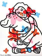 GILLIE AND MARC | Giclée Print | Limited Edition | Pop Art | Hippo Love