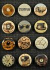 Steampunk - 1 Inch Pin Back Buttons