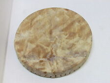 BEAUTIFUL HANDMADE HIDE DRUM 12 INCHES DIAMETER WOODEN FRAME WAXED STRING