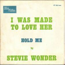 """STEVIE WONDER """"I WAS MADE TO LOVE HER"""" 60'S SP TAMLA MOTOWN FT 102"""