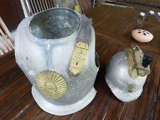Ancien déguisement d'enfant : casque et cuirasse de dragon 1er ou second empire