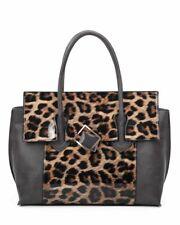 Ladies Plastic Leopard Skin Print Top Handle Hand Bag New Fashion PU Leather Bag