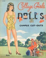 VINTGE 1940s COLLEGE GIRLS PAPER DOLLS ~NICEL ASER REPRODUCTION~Orig SIZE UNCUT