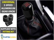 Universal Car 5 Speed Aluminum Shift Gear Knob Manual Stick Shifter Black Lever