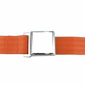2pt Orange Lap Seat Belt Airplane Buckle - Each