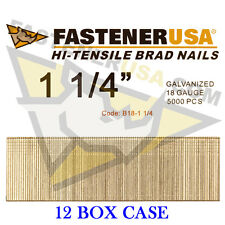 "1 1/4"" 18 Gauge Straight Brad Finish Nails 18 ga (5,000 ct) (Case of 12)"