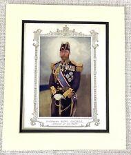 1914 Antique Print King George V Portrait Painting Admiral of the Fleet Uniform