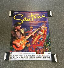 Santana Original Concert Poster From Germany Berlin