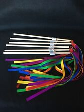 Brand New!  Rainbow Ribbon Wand- Set Of 6