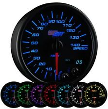 "GlowShift Black 7 Color 3 3/4"" In Dash Speedometer MPH Gauge GS-C717"