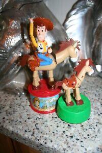 Disney Toy Story 2 Woodys Roundup Candy Dispenser 1999 McDonalds Bullseye plus!