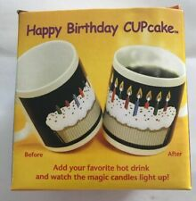 Magic Candle Lights Heat Changing Happy Birthday CUPCake Coffee Mug