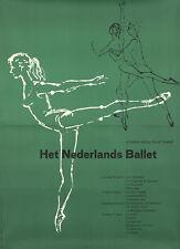 Original Vintage Poster Nederlands Ballet Dance Netehrlands 1970s Sonia Gaskell
