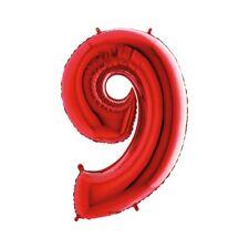 Palloncino mylar Super Shape numero Cm. 100 - Rosso - N. 9