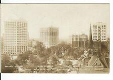 CF-157, MI, Detroit Whitney, Statler, Kresge Buildings Real Photo Postcard RPPC