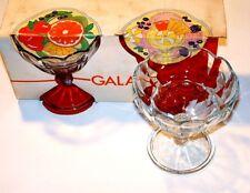 Set Of 6 Bormioli Fidenza Gala Dessert Bowl Dish Ice Cream Cup Wave Rim 13oz