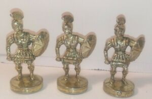 Manopoulos Large Romans Chess Set Spare Pieces  3 Pawns (Gold Look)
