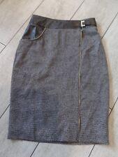 women's designer dress skirt  HOWARD SHOWERS wrap leather look waist zips S 8