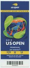 8/26 2019 US Open Tennis Promenade FULL TICKET Bianca Andreescu Serena Williams