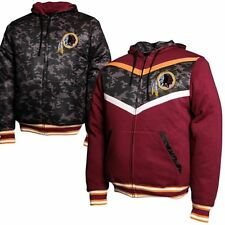 Washington Redskins Reversible Black Camo Hoodie Full Front Zip -Large Free Ship