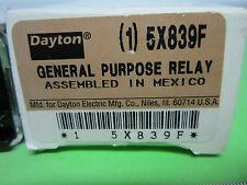 DAYTON GENERAL PURPOSE RELAY 5X839F AS IS BIN#4V