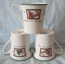 Mikasa Christmas Wish Cappuccino Mugs Set of 3