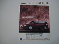 advertising Pubblicità 1989 PEUGEOT 405 SW STATION WAGON