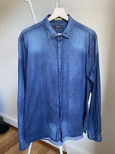 Replay Jeanshemd XL blau Regular fit