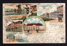 110522 AK Norderney Litho 1901 Restaurant Zum deutschen Patriot Schaluppen Kaise