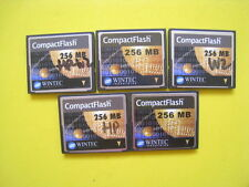 Lot of 5 Wintec 256MB Industrial CF Compact Flash card