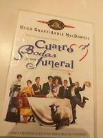 Dvd cuatro bodas y un funeral con hugh grant
