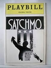SATCHMO Playbill BYRON STRIPLING / LOUIS ARMSTRONG / KENNETH FELD Boston 1987