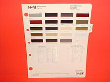 1984 LINCOLN CONTINENTAL GIVENCHY MARK VII LSC TOWN CAR SIGNATURE PAINT CHIPS 84