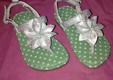 Toddler Girl's Carter's Silver Sandals, Size 7
